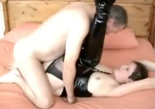 perverted aged in boots get screwed